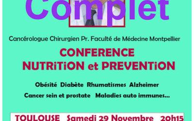 29 novembre 2014 – Nutrition et prévention avec le Pr Henri Joyeux à Toulouse