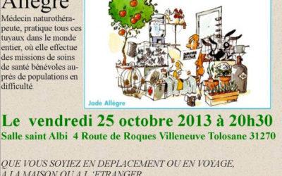 Vendredi 25 octobre – Survivre en ville… quand tout s'arrête ! Jade Allègre