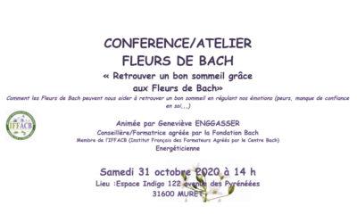 ANNULÉ -Conférence – Atelier : Retrouver un bon sommeil grâce aux Fleurs de Bach